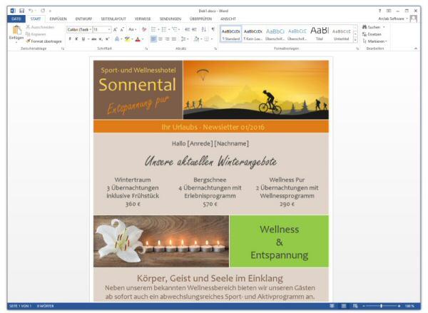 Newsletter | Anleitung Zum Newsletter Programm Newsletter Mit Microsoft Word
