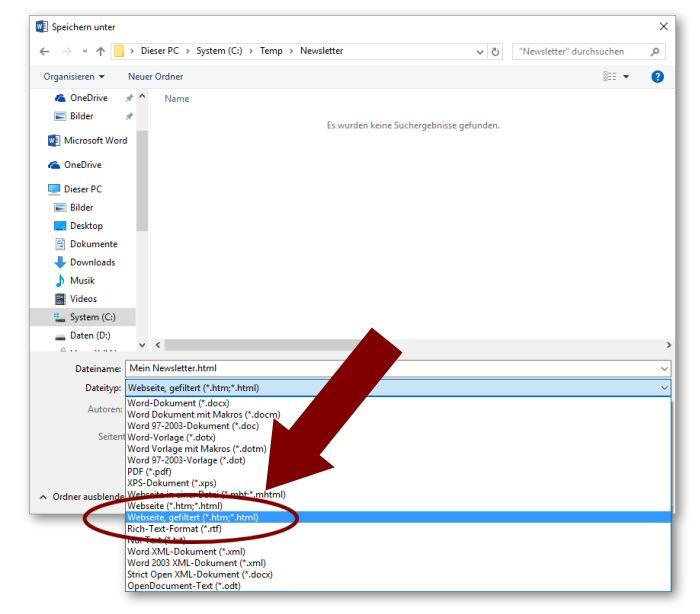 Anleitung zum Newsletter Programm - Newsletter mit Microsoft Word ...
