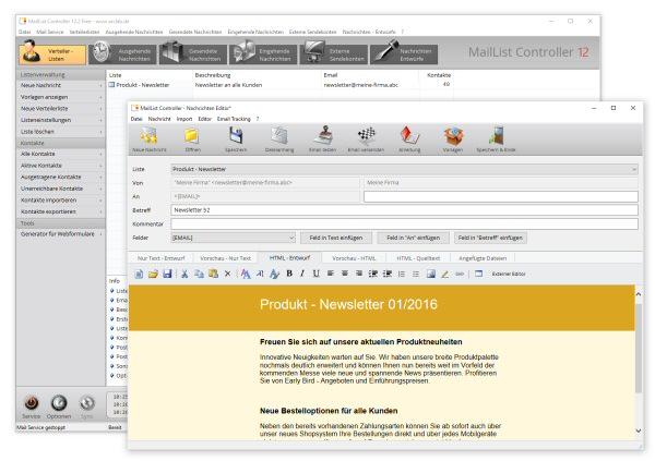 022e050d00 MailList Controller Free Edition - Kostenlose Newsletter Freeware