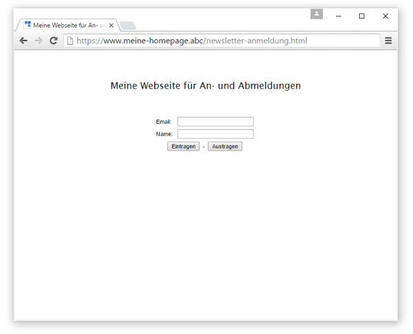 Anleitung zum Newsletter Programm - Generator für An- und ...