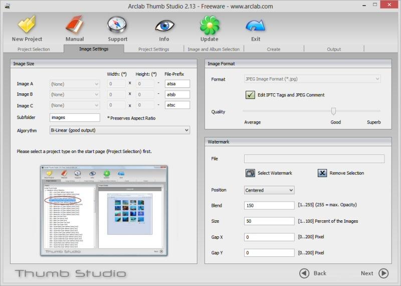 Click to view Arclab Thumb Studio Free 2.13 screenshot