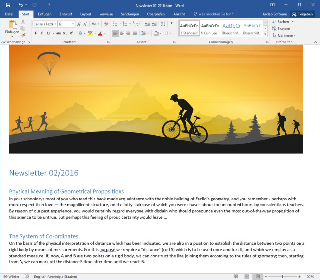 how to create and edit an email newsletter message with ms word