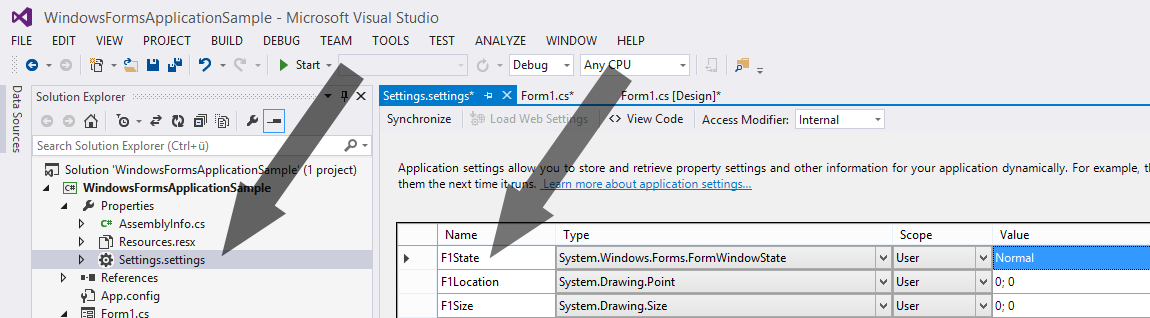 C# Save and Restore Position and Size of a Windows Forms