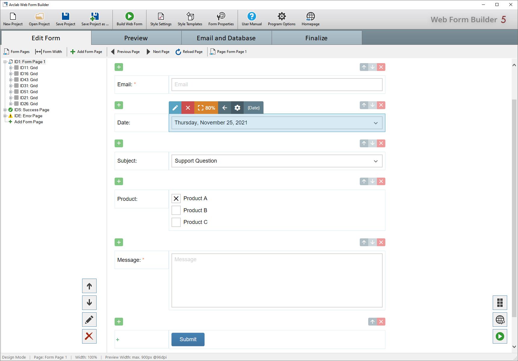 Full Arclab Web Form Builder screenshot