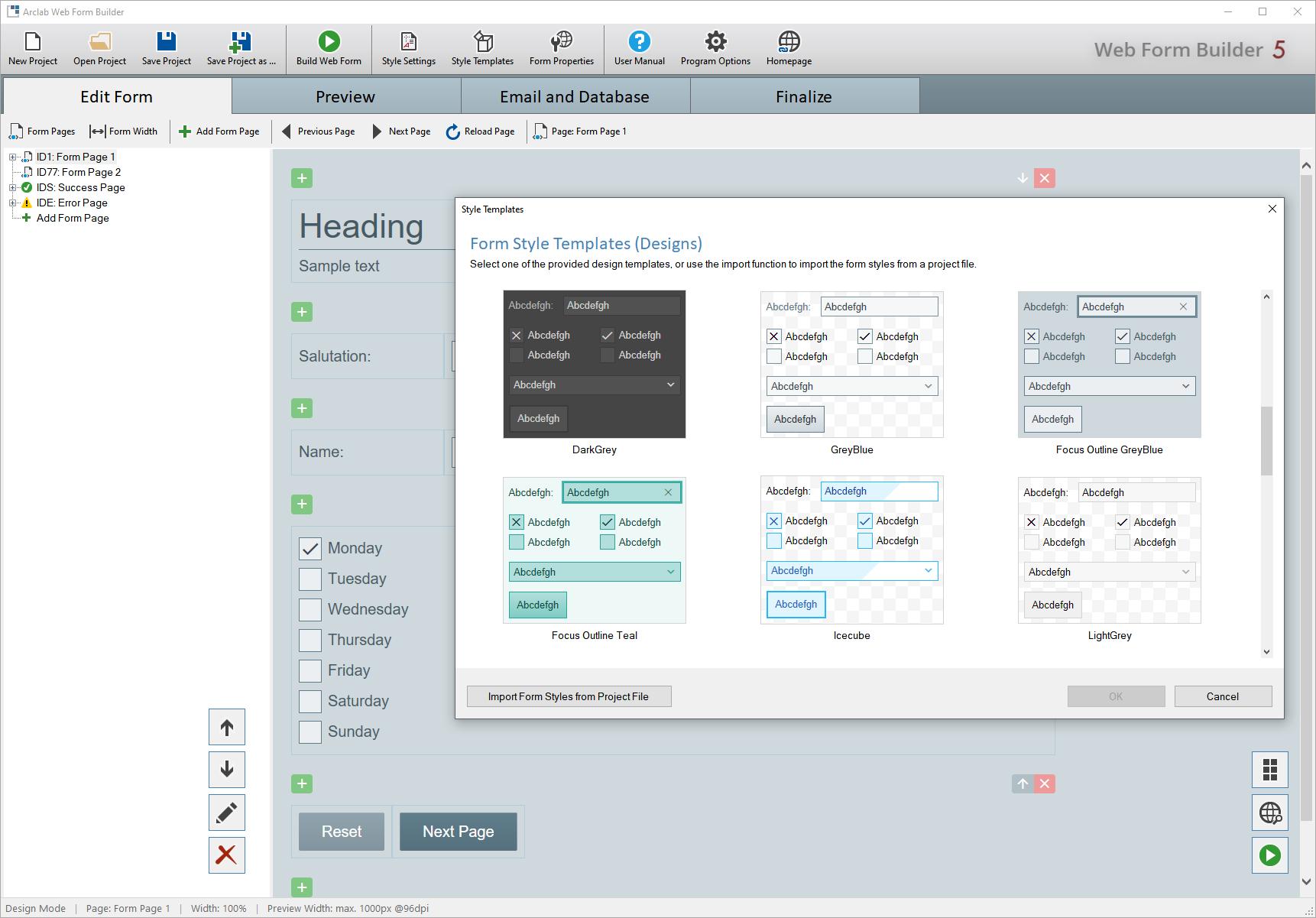 Arclab Web Form Builder screenshot